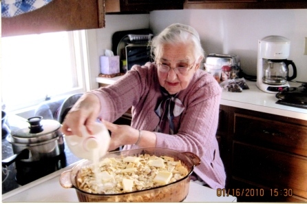 2010_Mother Longenecker_Baking Salmon Loaf_6x4_300