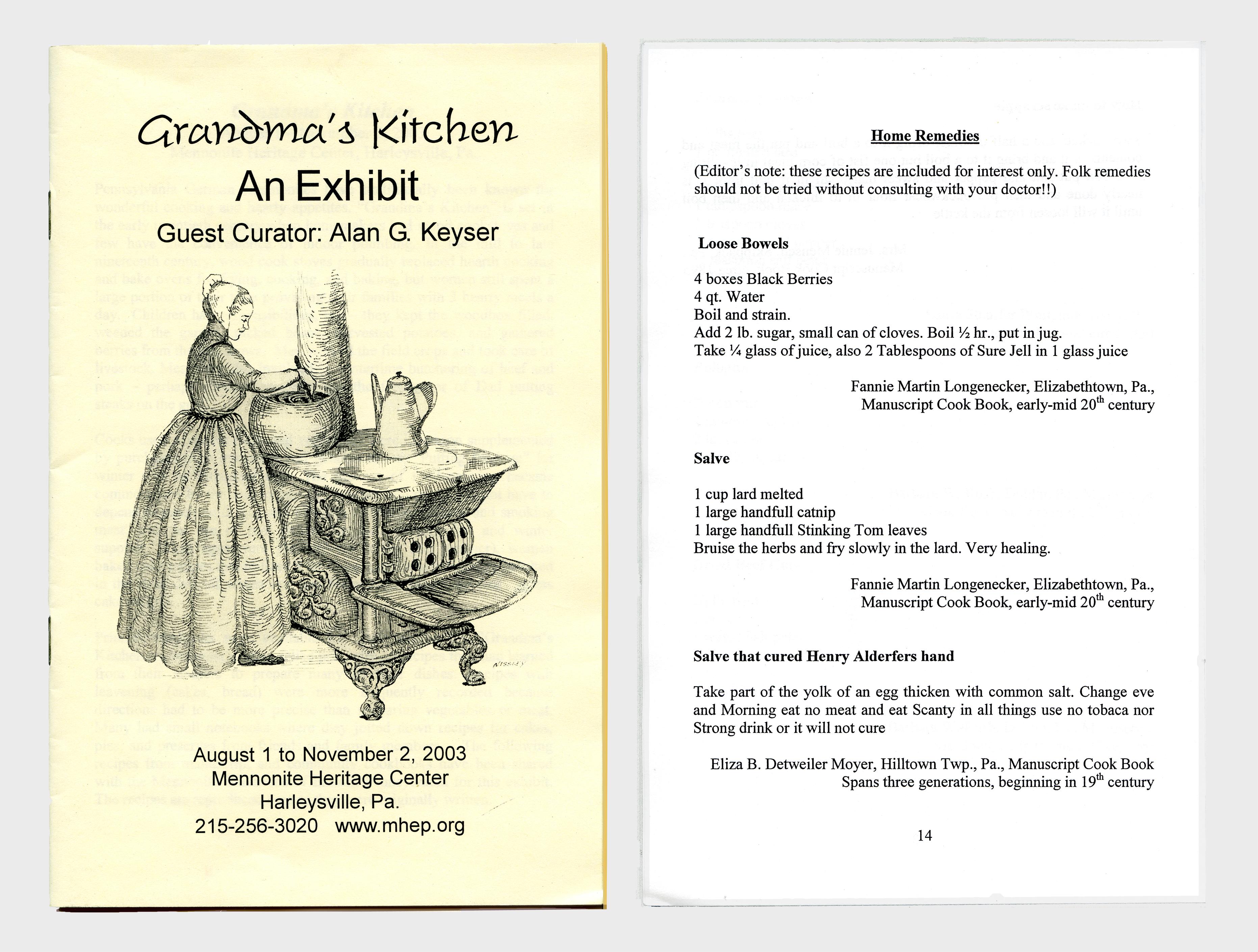 Grandma\'s Kitchen: Recipes & More – Plain and Fancy