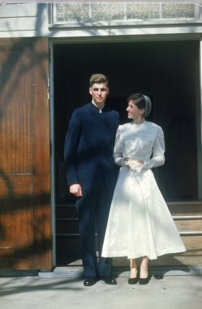 Wedding of Ruth Longenecker and John Weaver, 1950s