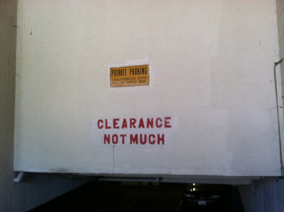Clearance Sign, Carmel by the Sea