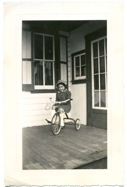 Another hat - on tricycle
