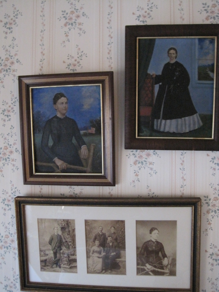 Oil Paintings of Grandma Longenecker and Great Grandma Martin
