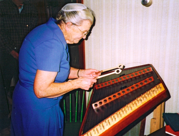 Playing the dulcimer 1996