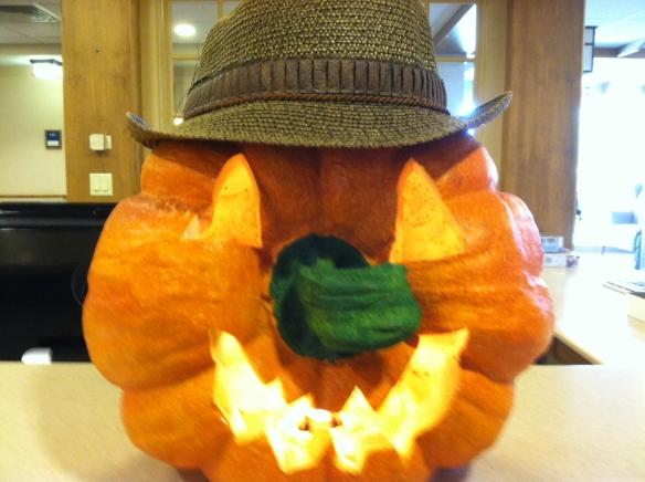 Pumpkin displayed at Landis Homes, Lititz, PA