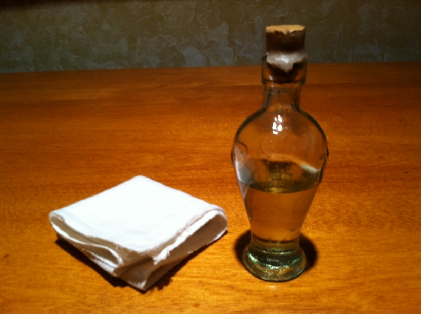 Olive oil in a Vial of Healing