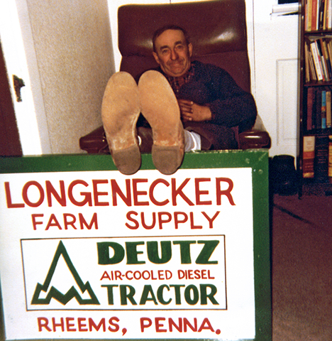 Daddy in his later years, taking a breather