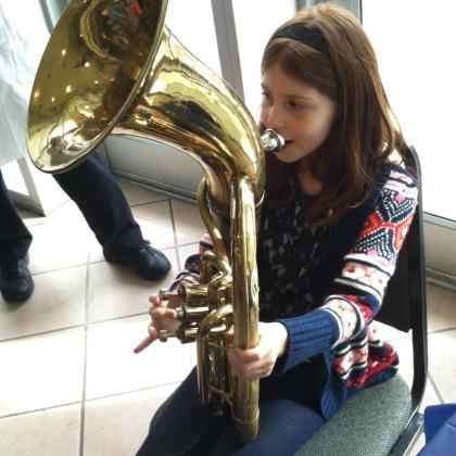 Jenna & Tuba at the Instrument Zoo