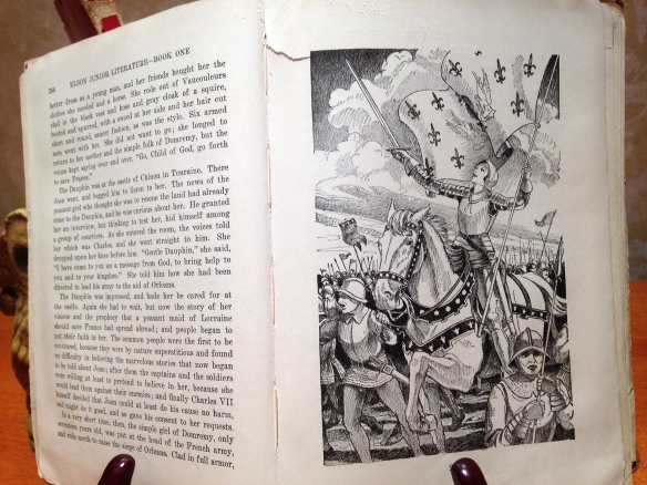 I always loved to turn the page and find an etching in the Elson Junior Literature Book One