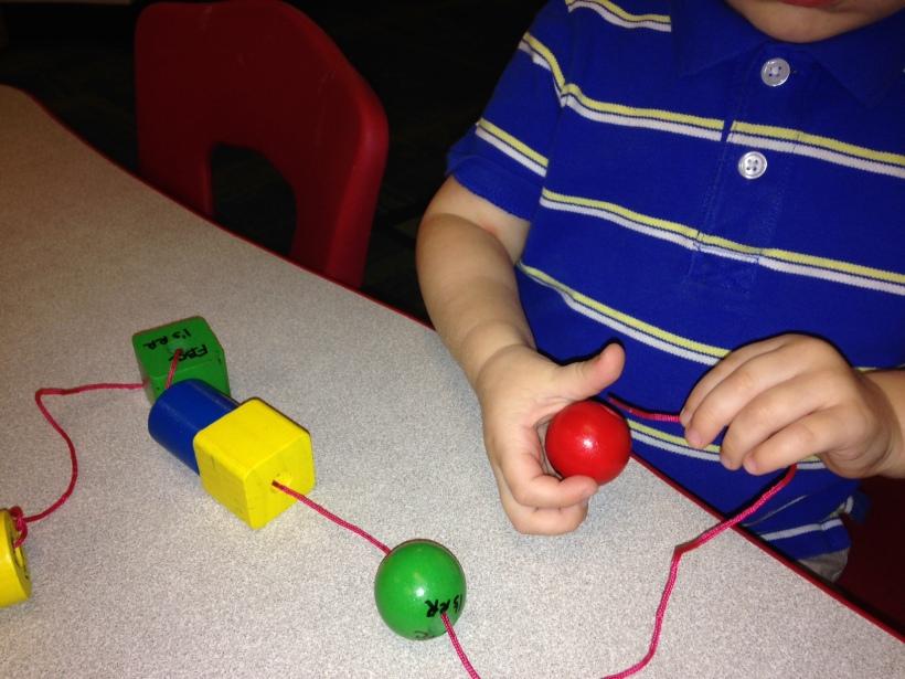 stringing beads