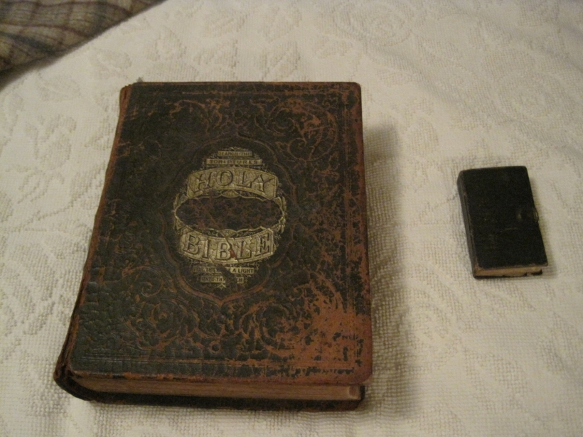 Longenecker Family Bible with German BIble at right