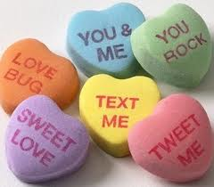 A few candy heart sayings we never saw: Courtesy Google Images