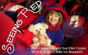 """""""When I am an old woman, I shall wear purple / With a red hat . . . !"""""""