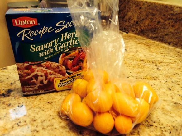 Home-grown kumquats and soup mix