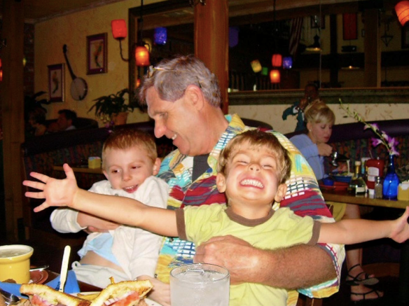 Patrick and Curtis about 6 years ago at O'Charley's Restaurant