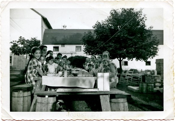 Picnic on Leroy Metzlers Farm_Marian age 10_final