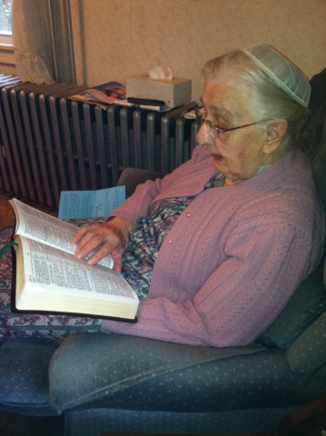 Mother and her morning ritual, reading her Bible