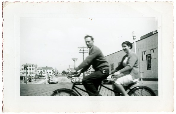 Ray and Ruth L_Bicycle built for two