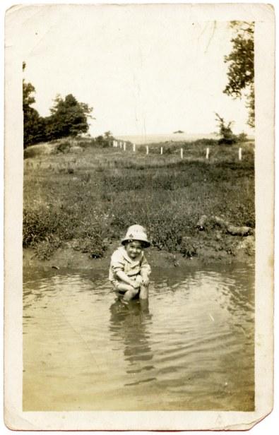 My dad at the Grandpa Martin farm