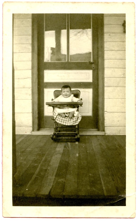 Mother in high chair, 1918