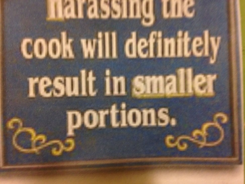 HarassingCookSign