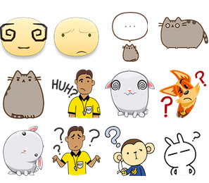 Confused Emoticons
