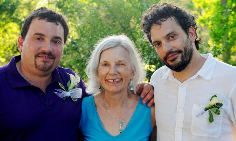 Elaine with her sons David and Anthony