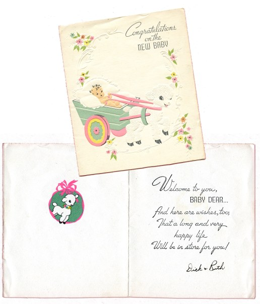 1941_Marian_Baby Card_outside+inside