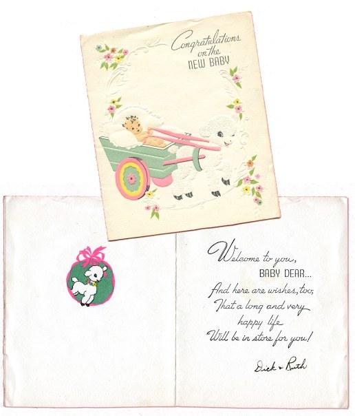 1941_Marian_Baby Card_outside+inside