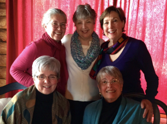 Standing: Janet Givens, Kathy Pooler, Marian Beaman Seated: Shirley Showalter, Joan Rough