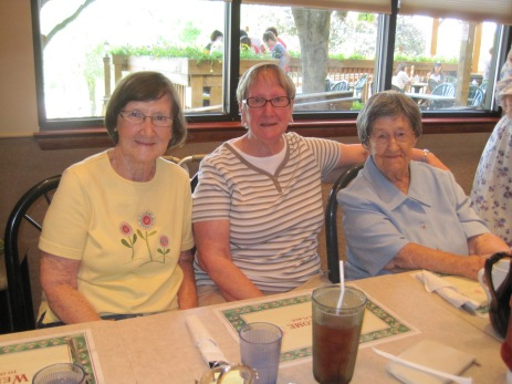Daughters Erma and Orpha with Aunt Cecilia in 2012