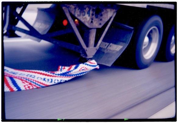 Even eighteen wheelers have patriotic ties.