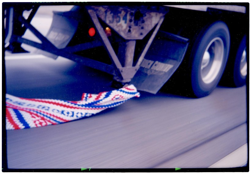 Even eighteen wheelers have patriotic ties.