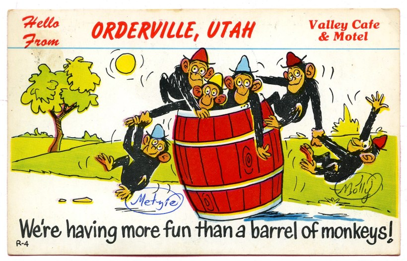 1964_Monkey postcard_Orderville UT