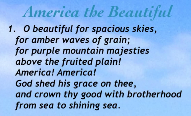 LyricsAmericaBeautiful