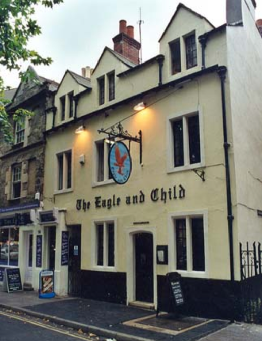 The Eagle and Child - Tuesday morning meeting place of the Inklings including Lewis and Tolkien
