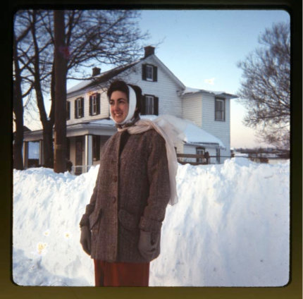 Blizzard of 1966 in front of the house on Anchor Road, Pennsylvania