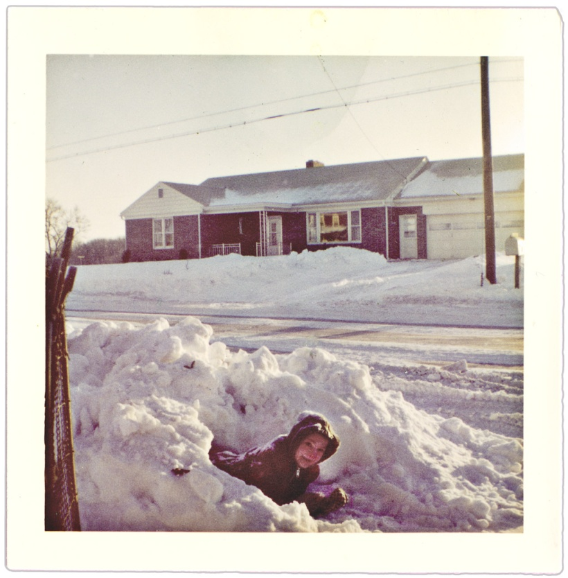 "Snow-faced Mark in ""igloo"" 1961"