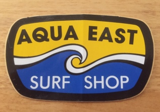 Logo for Aqua East Surf Shop, Jacksonville Beach, Florida