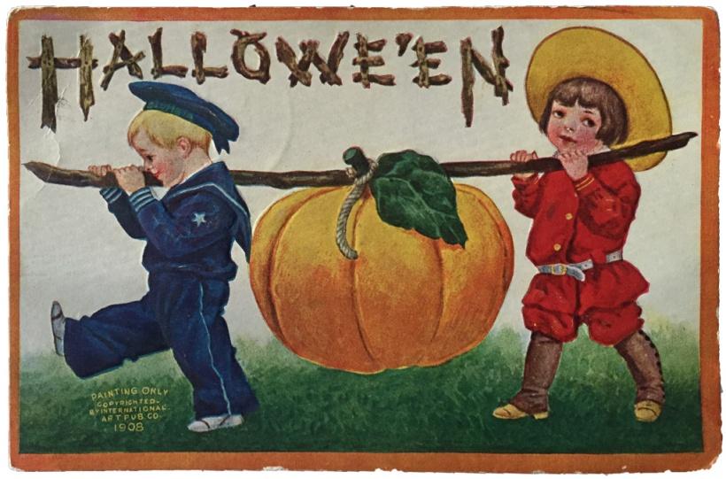 pumpkinpostcard1908