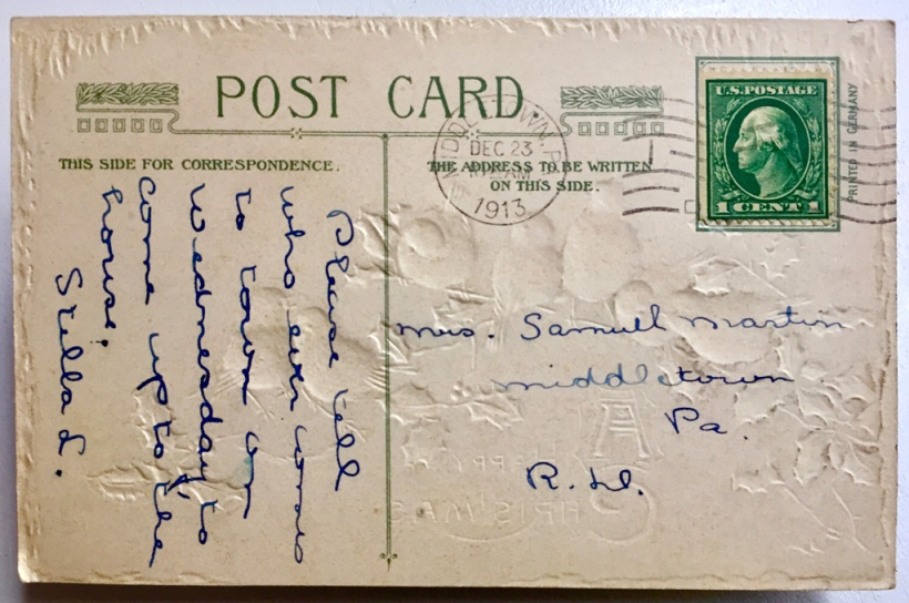 Excited to think that some of my great grandmother's DNA may remain on this postcard from 1913.