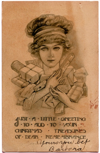 postcardladydrawing1911